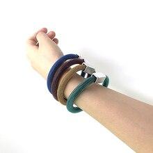 YD& YDBZ дизайнерские резиновые браслеты для женщин 4 цвета ручной работы ювелирные изделия мягкая цепочка Винтаж Панк Многоцветный браслет с подвеской оптом