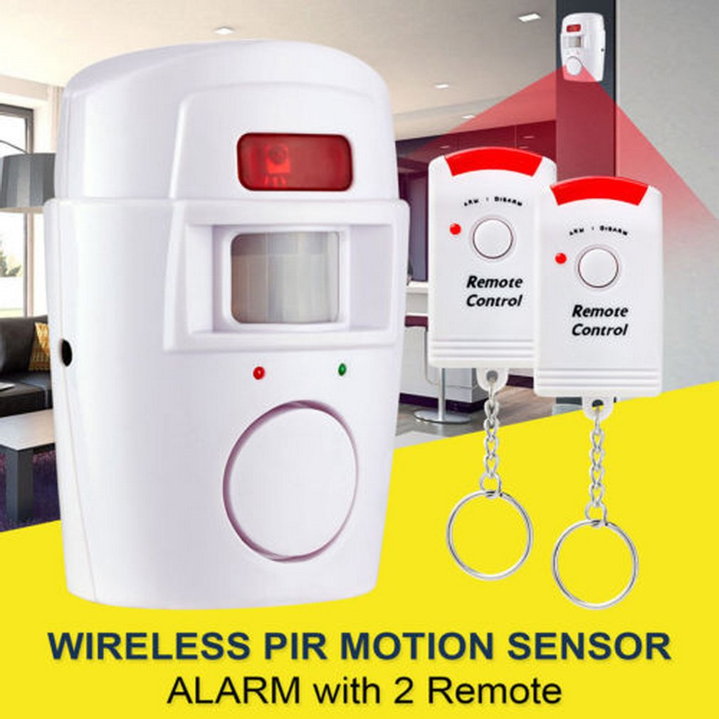 Wireless Motion Sensor Alarm Security Detector Indoor Outdoor Alert System With Remote Control For Home Garage