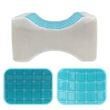 Chłodzenie poduszka pod kolana ortopedyczny węgiel poduszka z pianki memory z żel chłodzący kolano klin rwa kulszowa poduszka dla śpiących na boku
