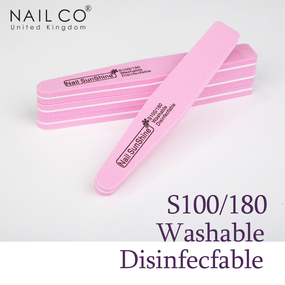 NAILCO Meticulous Sponge Rub Durable Nail Tools Rubbing Polished Nail File Rubber Buffer Styling Sided Grinding Repair Manicure