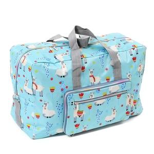 Image 5 - 折りたたみ旅行バッグ女性の大容量ポータブルショルダーダッフルバッグ漫画の印刷防水週末荷物トート卸売