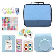 Bolsa de armazenamento para câmera instantânea fujifilm instax mini 9, câmera fotográfica + 7 em 1 bolsa protetora para kit de vídeo filtro + álbum + adesivo