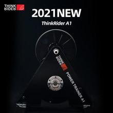 Novo thinkrider a1 instrutor de bicicleta mtb estrada bicicleta built-in power-meter zwift perfpro predefinido 3% inclinação corrida aquecer sem necessidade de energia