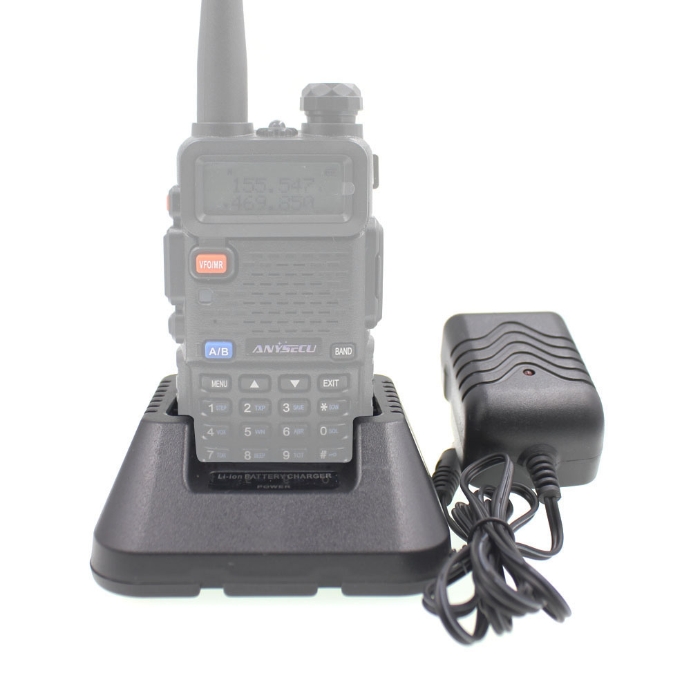 Original Charger For BAOFENG UV-5R DM-5R UV-5RA UV-5RB Series Two Way Radios Power Adaptor And Desktop For BL-5 Li-ion Battery