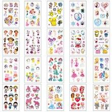 20 pçs dos desenhos animados do falso tatouage à prova dwaterproof água tatuagens temporárias adesivos crianças diy arte do corpo falso tatoo mãos braço tatouage enfant