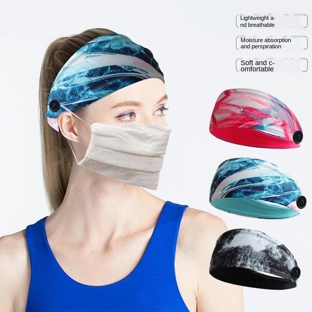 Sweat-absorbent Yoga Headband Sports Sweat-absorbent Headband Men and Women Sports Anti-sweat Belt Yoga Headband Button Headband