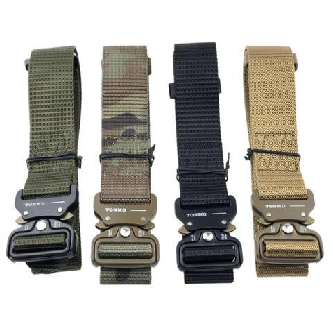 Cinto de Cintura Militar de Náilon com Fivela de Metal Cinto de Treinamento Cintos Táticos Resistente Ajustável