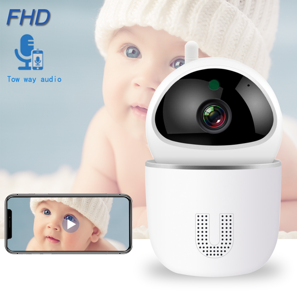 WiFi Baby Monitor 1080P Baby Sleep Monitor Nanny Smart IP Camera Night Vision Auto Tracking Two Way Audio Intercom Baby Phone