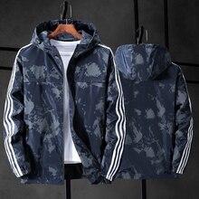 Мужская камуфляжная куртка, ветровка с капюшоном в стиле милитари, парусиновая парка, большие размеры 10XL/9XL/8XL/7XL