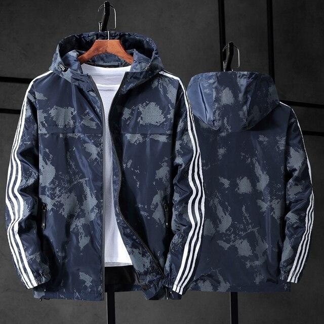 Chaqueta de camuflaje con capucha para hombre, chaqueta de lona militar, Parka, talla grande, 10XL, 9XL, 8XL, 7XL