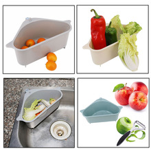 Sink Strainer Drain Vegetable Fruite Drainer Basket Sink Drain Basket Fruit Vegetable Storage Rack Kitchen Supplies viborg deluxe 304 stainless steel deodorizing kitchen sink double strainer basket drain set with drain pipes k gsl 114b