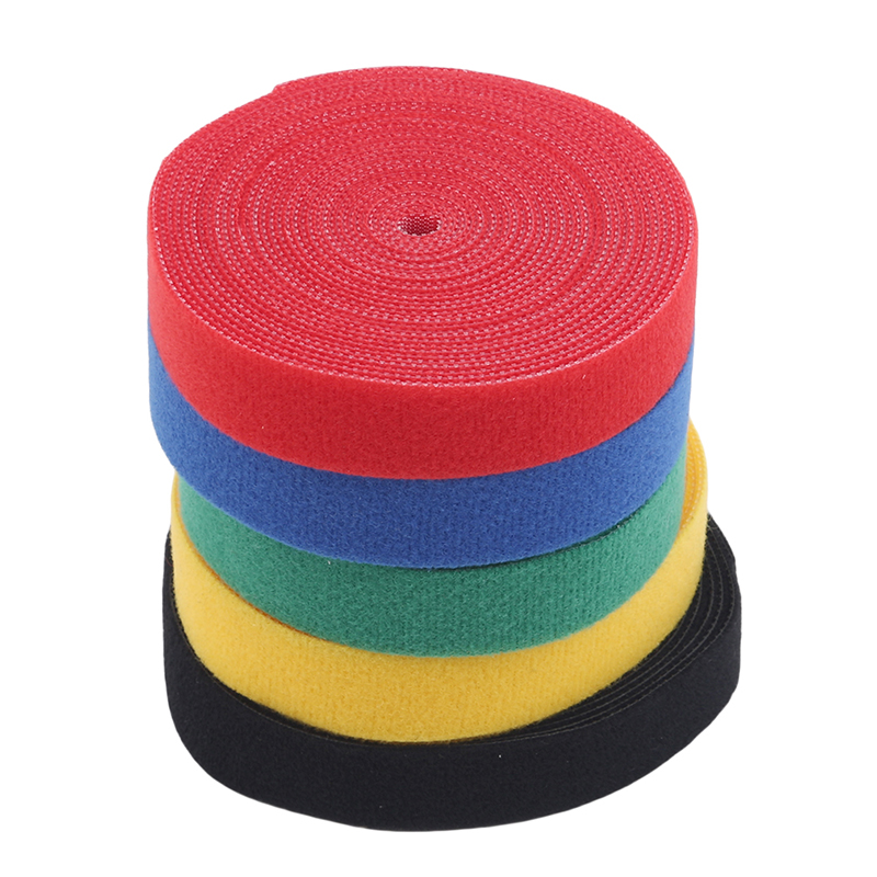 Magical Glue Self-Adhesive Tape Strap Hoop Loop Strap Velcro Closure Tape Scratch Roll Fastening Tape 1Roll 2cm*5m Color