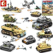 1061Pcs Military Technic Iron Empire Tank Building Blocks Set Weapon War Chariot Creator Army WW2 Soldiers Kids Toys Sembo Block