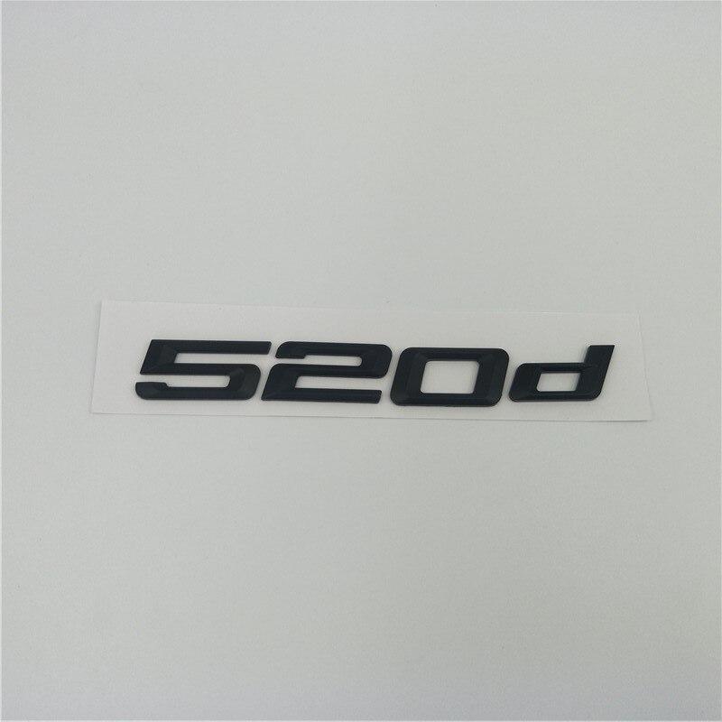 Matte Black Trunk Emblem Badge Letters for BMW E60 E61 F10 F11 5-Series 525d 525