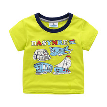 Summer New Products European And American Style Brand Childrenswear Children T-shirt Pure Cotton Short Sleeve Crew Neck Printed
