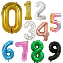 32 polegada folha balões de ar hélio número balão figuras feliz aniversário decorações da festa de aniversário do miúdo brinquedo balão balões balony