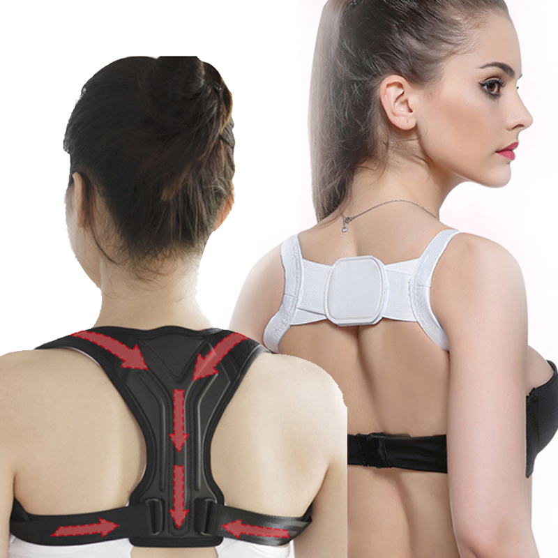 Adjustable Back Support Belt High Elastic Corrector Relieve Pain Posture Straps Clavicle Support Brace Back Posture Corrector