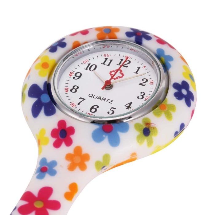 Часы для медсестер печатных Стиль клип на Fob Подвеска для броши карман висит врач-Медсестра Медицинские автоматические механические часы HSJ88