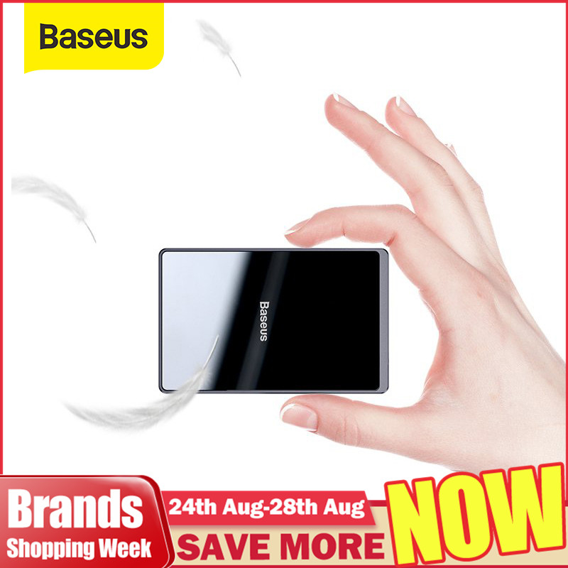 Baseus 15W Qi Wireless-ladegerät Tragbare Ultra Dünne Wireless Charging Pad für iPhone 11 Pro X XS XR 8 samsung S10 S9 Xiaomi mi 9