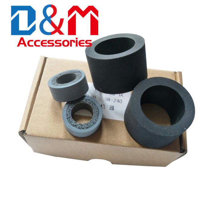 2Sets Paper Pickup Roller Tire For Canon DR-M160 DR-M160II DR-C240 C230 M260 ScanFront400 160 240 230 260 400 Feed Roller Rubber