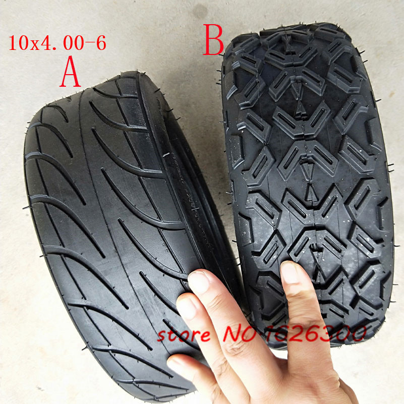10X4.00-6 10*4,00-6 бескамерные вакуумные шины для Harley Electric Citycoco Scooter Go Karts ATV Quad Bike OFF-Road image