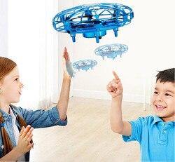 Rc samoloty Anti kolizji latający helikopter magiczna ręka UFO piłka statku powietrznego wykrywania Mini indukcyjna Drone dzieci elektroniczne zabawki w Samoloty RC od Zabawki i hobby na