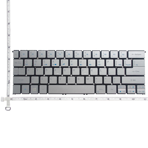 Image 2 - GZEELE NEW US English laptop keyboard for Acer Aspire S7 391 S7 392 MS2364 silver keyboard without backlight