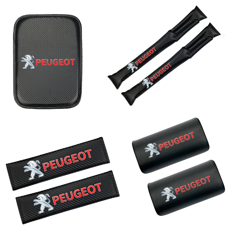 Car <font><b>Armrest</b></font> Pad Covers Auto Seat <font><b>Armrests</b></font> Box Pads Storage Protection Cushion for <font><b>Peugeot</b></font> <font><b>206</b></font> 207 307 3008 2008 308 408 508 301 image