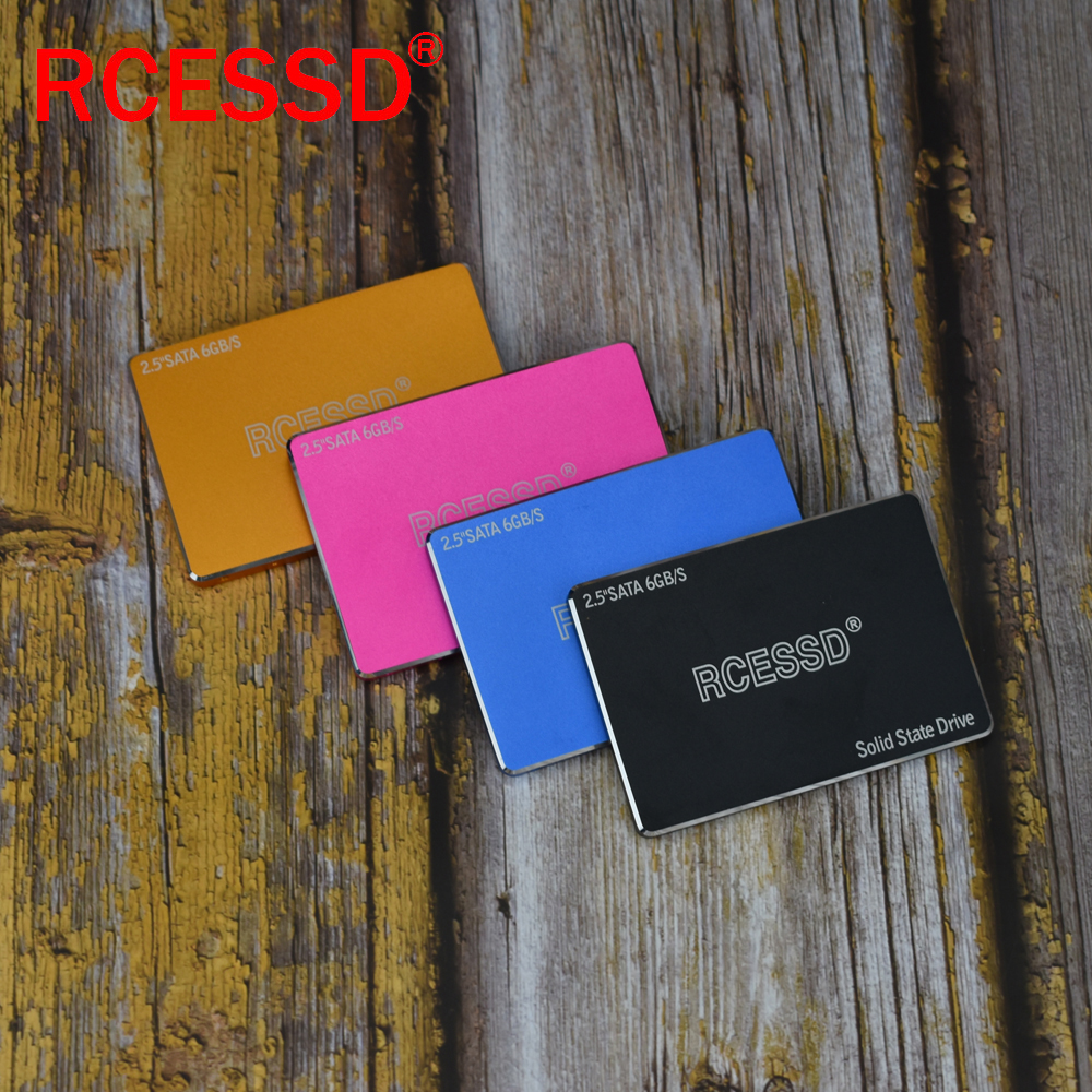 RCESSD Metal SSD 1TB SATA 3 SSD Hard Disk Drive Disc Laptop Internal Solid State Drive 128 256 512 GB For Desktop PC