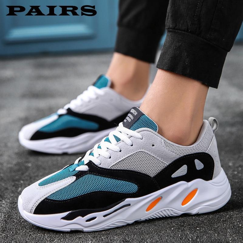 Vintage Dad Men Shoes 2019 Fashion Mesh Light Breathable Men Casual Tenis Shoes Men Sneakers Zapatos Hombre Unisex Shoes