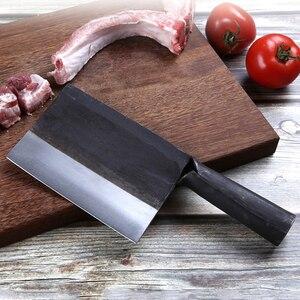 Image 3 - Profissional 6 polegada Artesanal Forjado Faca Santoku Aço Carbono Forjado Faca Chinesa Cutelo Facas de Cozinha