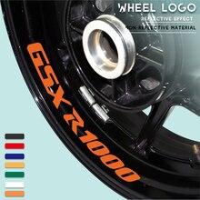 Motorcycle wheel logo sticker reflective moto rim tire accessories decorative decals for SUZUKI GSXR1000 gsx r1000