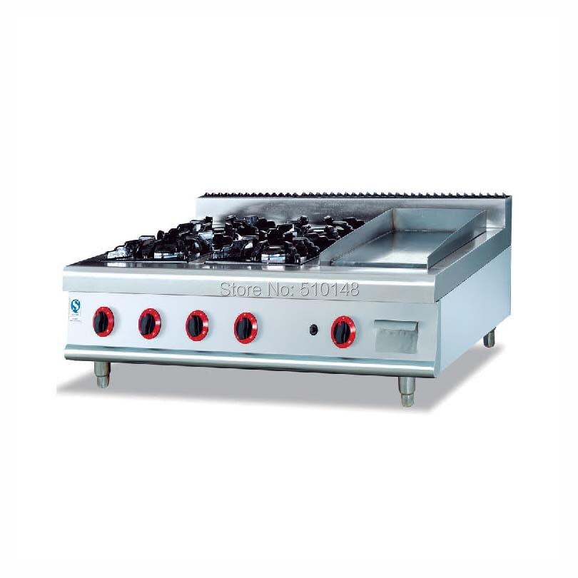 PKJG-GH996.1 4 Burner Gas Range With Griddle for business kitchen