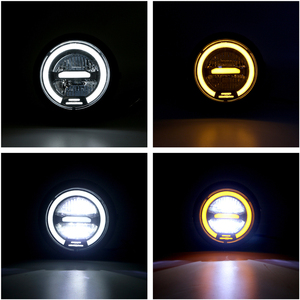 Image 3 - Faro delantero LED Vintage para motocicleta CG125 Cafe Racer, DRL, Retro, de Metal, 12V, 55W, Hi Beam, 6,8 pulgadas