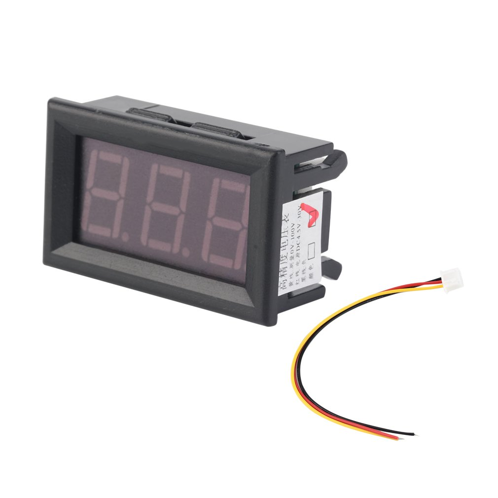1pc LED Vehicles Motor New 0-100V Red Mini Digital Voltmeter Voltage Panel Meter New Dropping Shipping