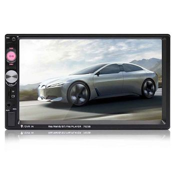 7023B 2 Din Car Multimedia Audio Player Stereo Radio 7 inch Touch Screen HD MP5 Player Support Bluetooth Camera FM USB SD Aux (W
