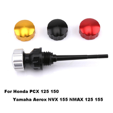 цена на Motorcycle Oil Dipstick For Honda PCX 125 150 For Yamaha Aerox NVX 155 NMAX 125 155 Oil Measuring Tool Motorcycle Accessories