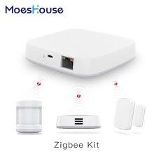 Tuya Zigbee Smart Gateway Hub Home Automation Scene Security Alarm Kit PIR Door&Window Temperature&Humidity Sensor Smart Life