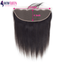 WOWQUEEN Hair Frontal Straight Natura-Color Lace 13x4 Lcae Swiss