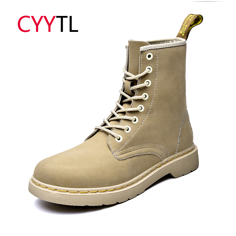 CYYTL 2019 Winter Men Boots Leather High-top Shoes Soft Warm Sneakers Botas Hombre Snow Waterproof Male Casual Safety Masculina