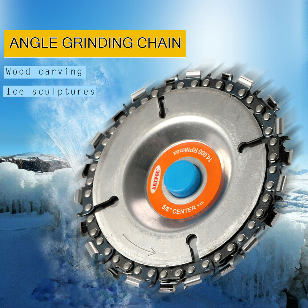 4 Inch Grinding Wheel Chain Saw Woodcarving Milling Disc For Angle Grinder Grinding Wheel Accessory