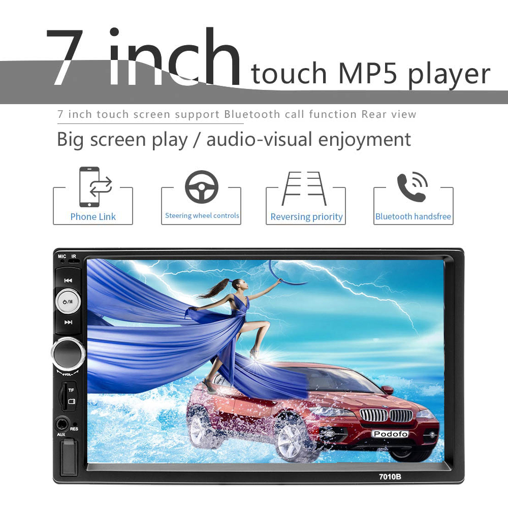 Car Radio Universal 2 Din 7 Inch Audio Stereo Radio HD Touch Screen Car Video Multimedia MP5 Player FM USB AUX SWC Remote