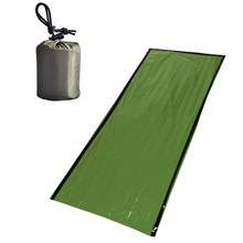 Warm and cold Sleeping Bag Blanket Anti-disaster Green Emergency Pad Survival(China)