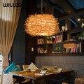 Деревянная подвеска ручной работы Cany Art лампа лампы E27 гнездо клетка подвесной светильник s декоративный для гостиной столовой кафе Чайный д...