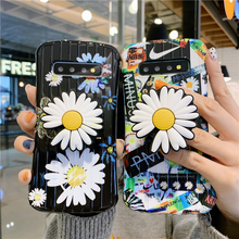 Couples Cartoon Cute Paint Daisy Flower Cover For Samsung Ga