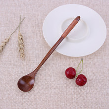 SUEF 20CMx3CM long Wooden Spoon Spoon Home Flatware Porridge Bowl Chinese Dinner Spoon Japanese Soup Spoon for Home Restaurant@3(China)