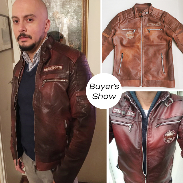 Ucrazy Men 2021 Autumn New Brand Casual Motor Distressed Leather Jacket Coat Men Winter Vintage Outwear Faux Leather Jackets Men 4