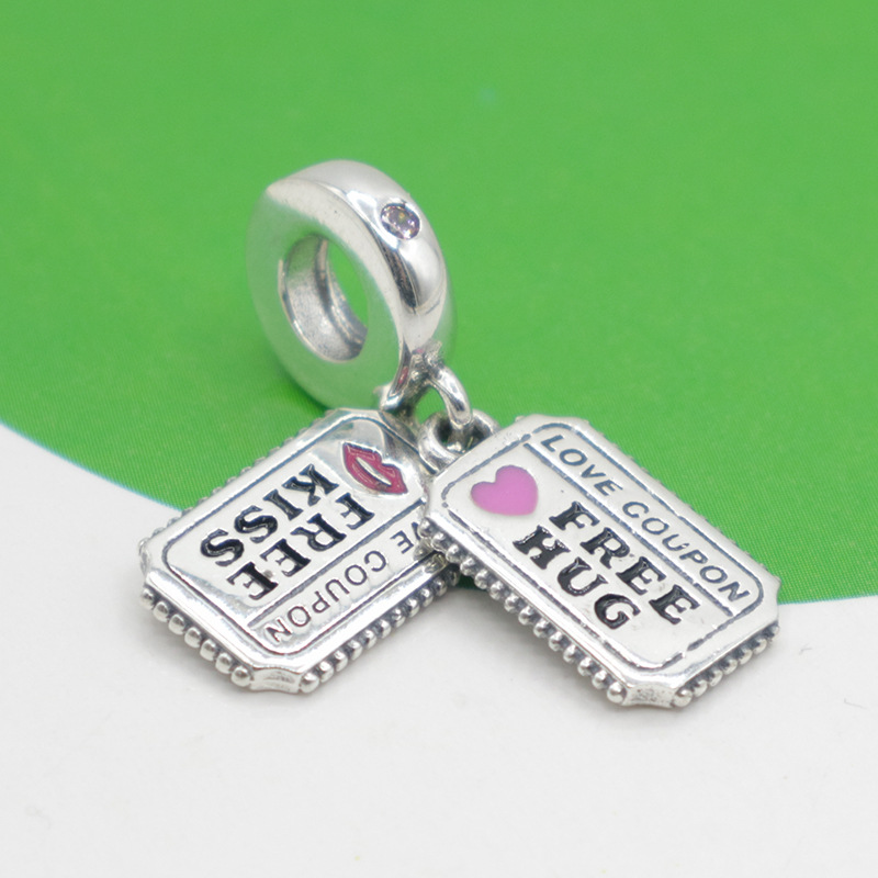 925 Sterling Silver Clover /& Ladybird Dangle Charm Fit European Bracelet