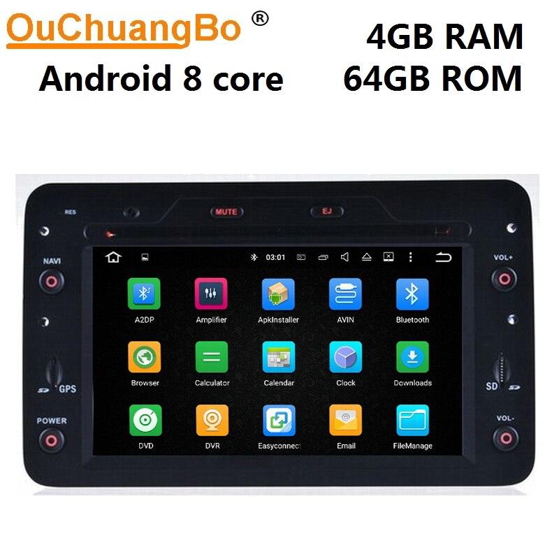 Автомобильный DVD радиоприемник Ouchuangbo, Android 9,0, gps навигация для Alfa Romeo 159 Spider Brera Sportwagon, 8 ядер, 4 Гб + 64 ГБ, зеркальная ссылка