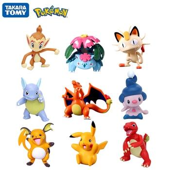 6-8CM Pokemon Figures Dolls Collection Pikachu Cartoon Pokémon Series Anime Model Ornaments Toys Kids Birthday Gift 1